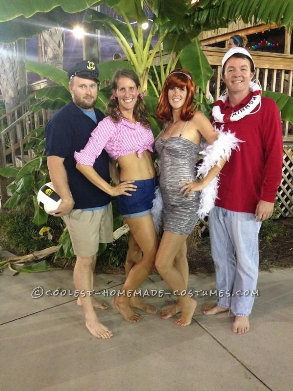 Easy No-Sew DIY Gilligan's Island Group Costume