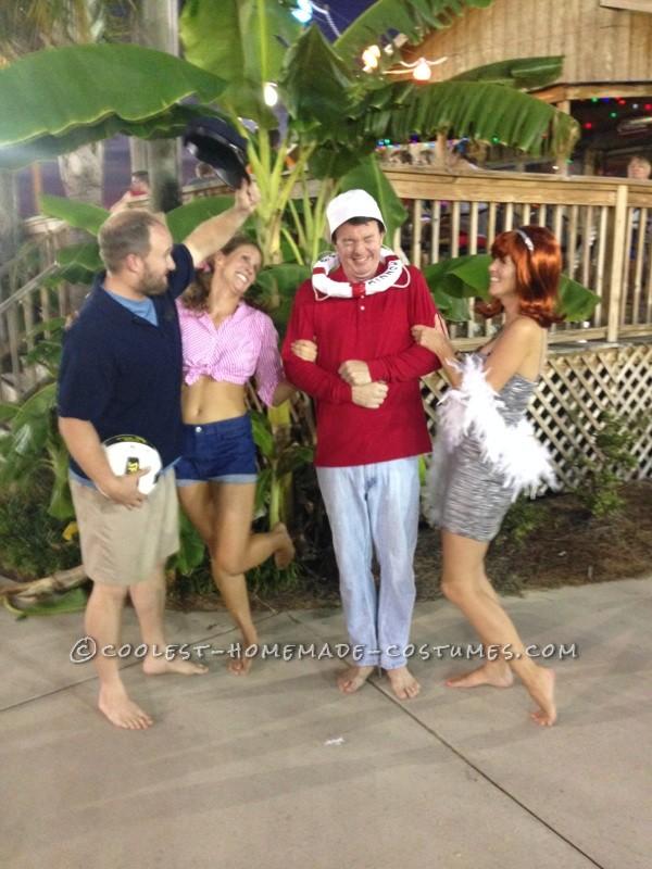 Easy No-Sew DIY Gilligan's Island Group Costume - 1