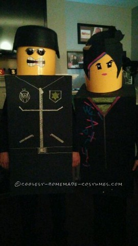 Awesome LEGO Good Cop/Bad Cop and Wyldestyle Couple Costumes