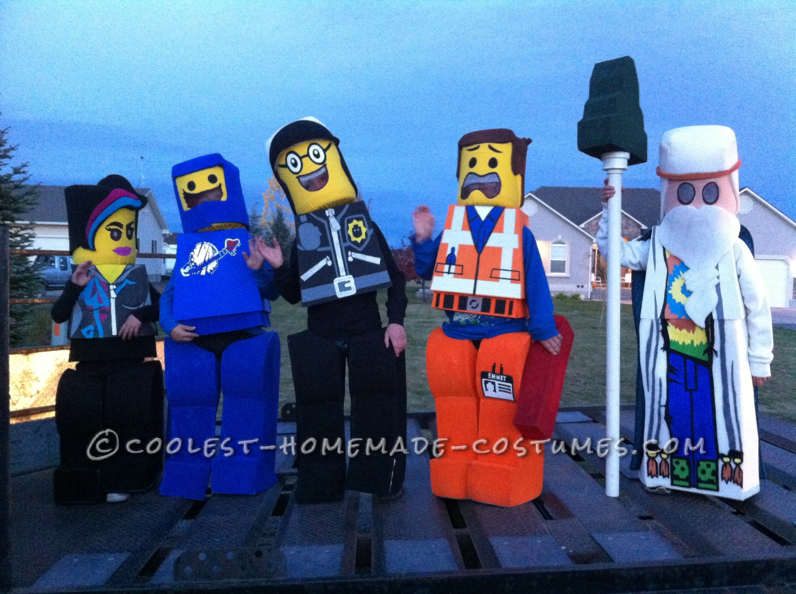 Cool DIY LEGO Costumes for Siblings