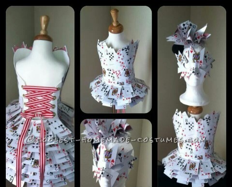 Original Homemade Queen of Hearts Costume for a Girl