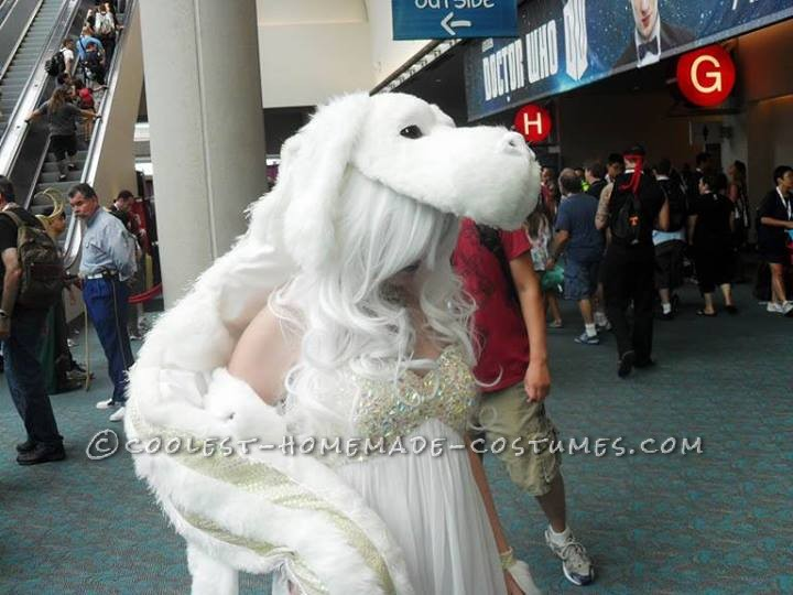 Awesome Homemade Falcor the Luck Dragon Costume