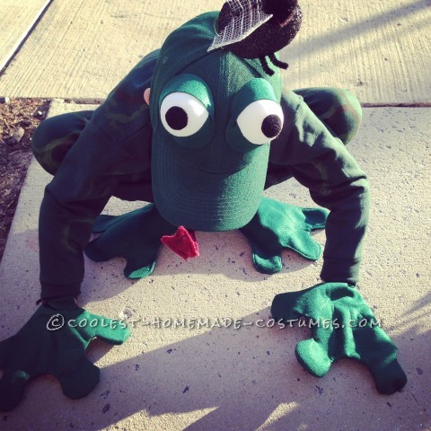 Fantastic Frog Costume for a First Grader