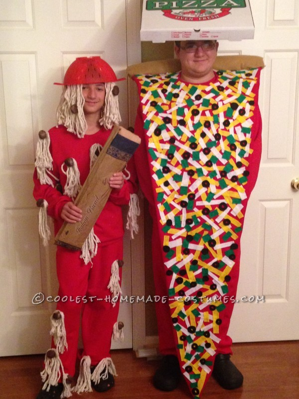 Cool Pizza and Spaghetti Costumes for Food Loving Boys