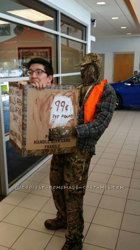 Funny Man in a Box Costume