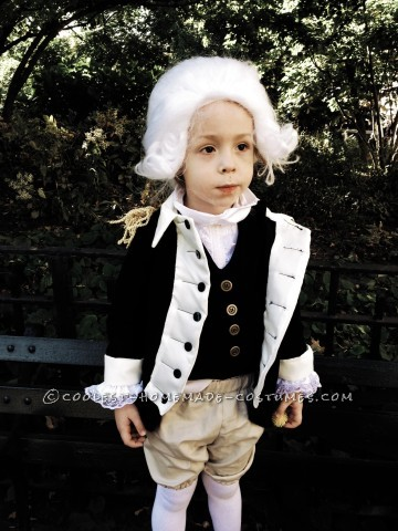 Cute George Washington Costume for a Boy