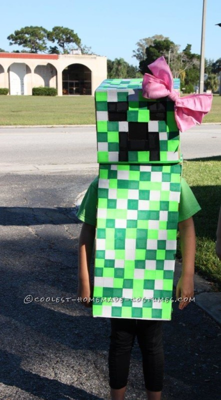 Cool Minecraft Girl Creeper Costume