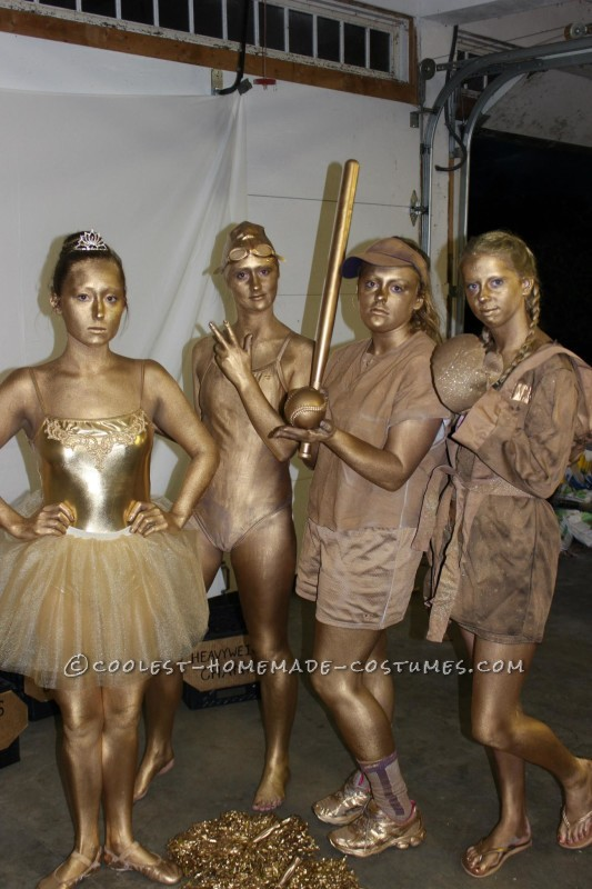 Golden Trophy Case Group Costume - 6