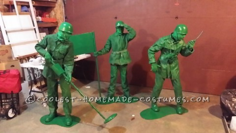 Cool Costume for Our Triplets: Green Army Men