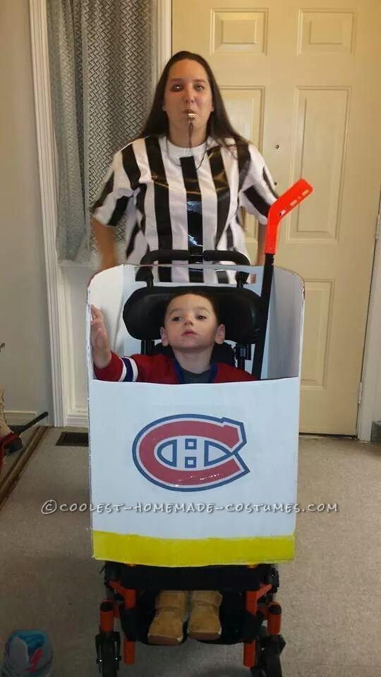 Cool Hockey Player Wheelchair Costume