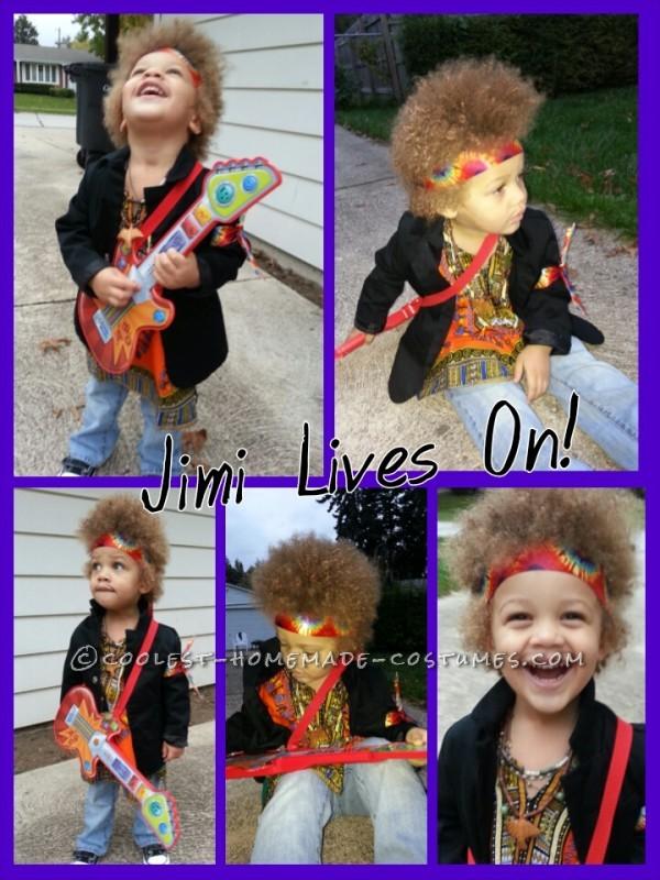 Homemade Jimi Hendrix Costume for a Boy - 9