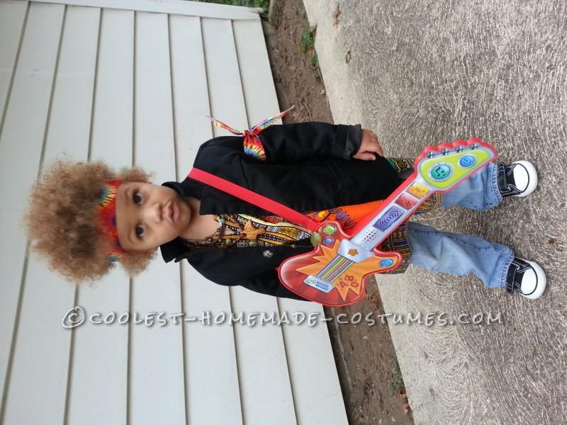 Homemade Jimi Hendrix Costume for a Boy - 8