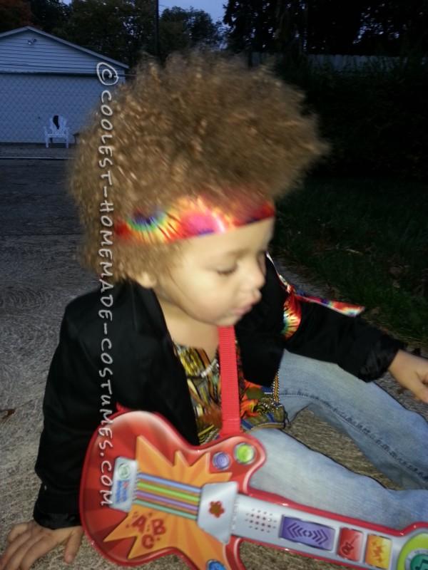 Homemade Jimi Hendrix Costume for a Boy - 5