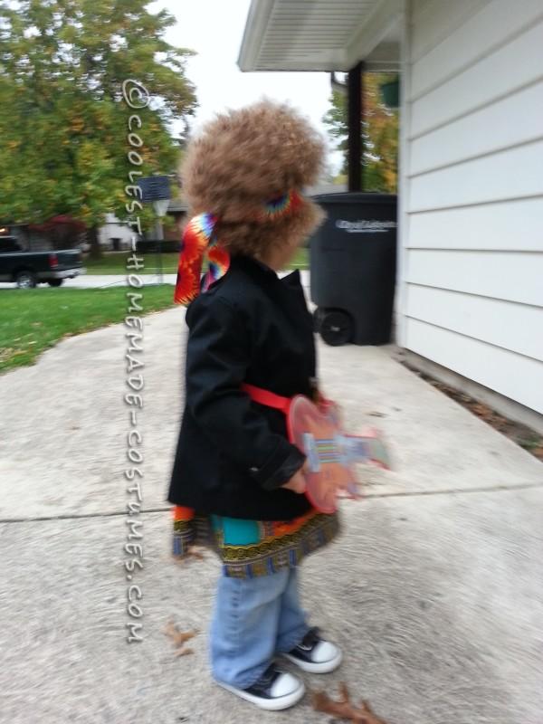 Homemade Jimi Hendrix Costume for a Boy - 4