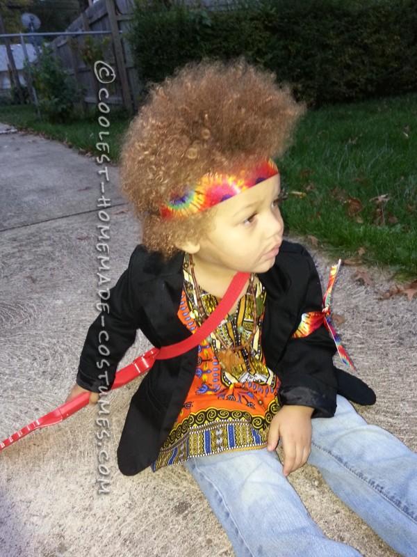 Homemade Jimi Hendrix Costume for a Boy - 2
