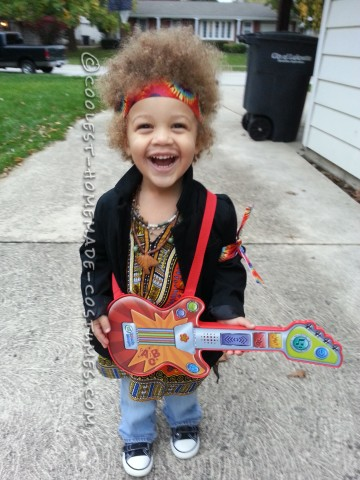 Homemade Jimi Hendrix Costume for a Boy