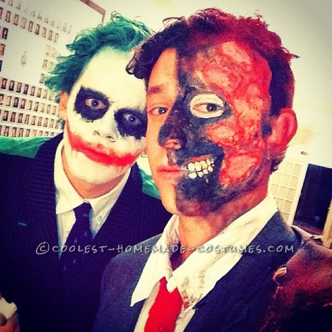 Homemade Joker and Two Face Costums