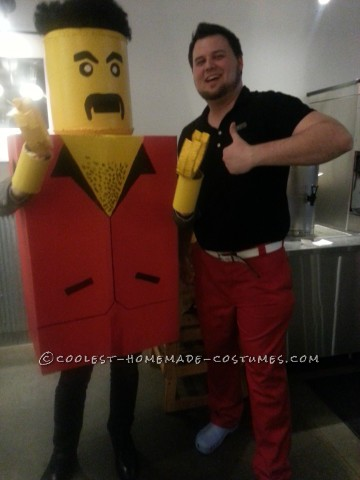 Homemade Lifesize Lego Costume