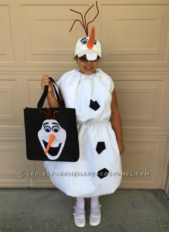 Homemade Olaf Loves Warm Hugs