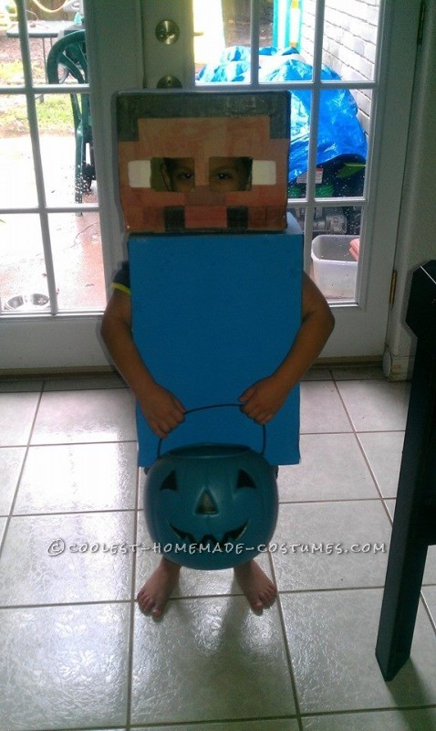 Cheap and Easy Costume: Steve from Minecraft