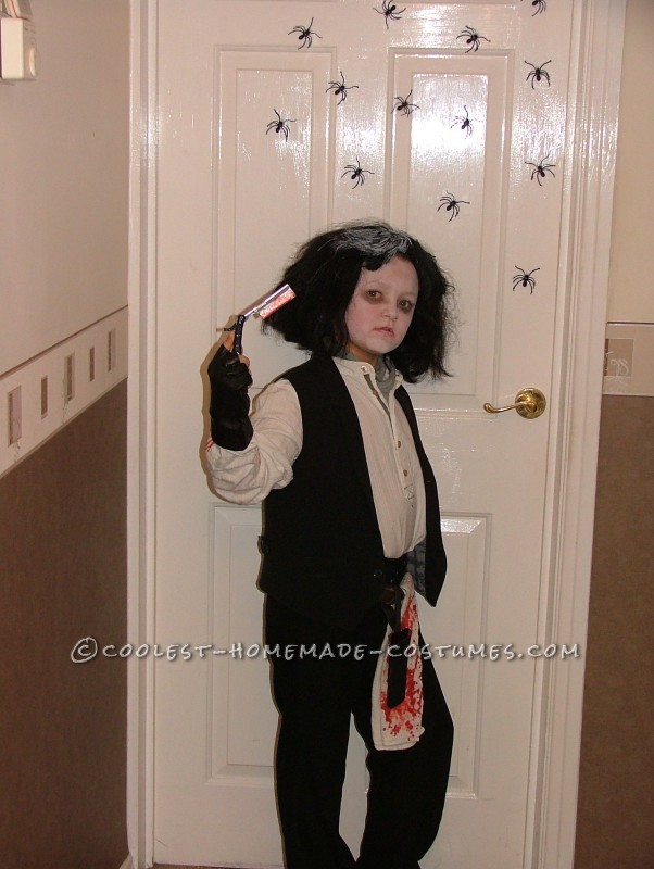 Homemade Sweeney Todd Child Costume