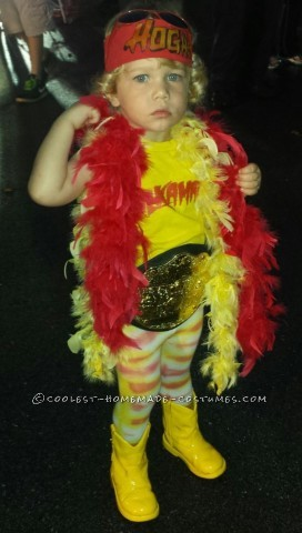 Cool Hulkamania Costume for a Toddler