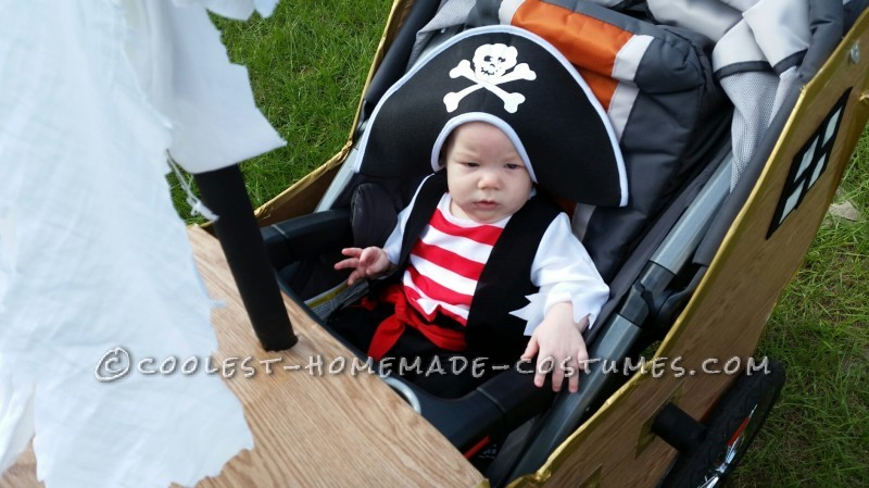 Infant Pirate Ship Stroller Costume - 2
