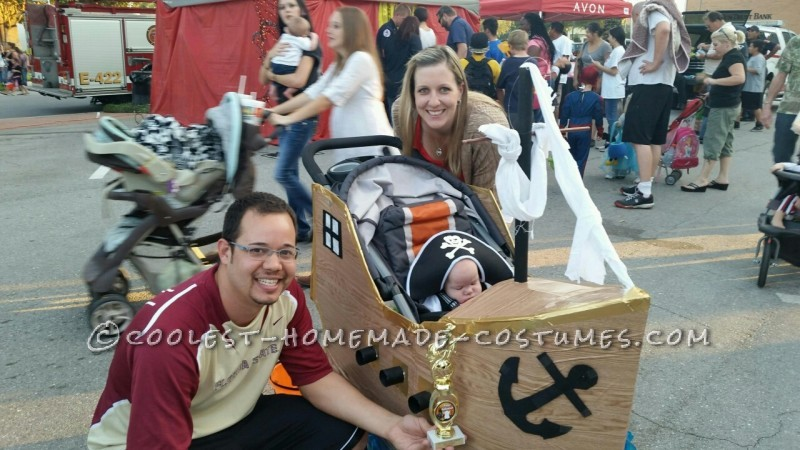 Infant Pirate Ship Stroller Costume