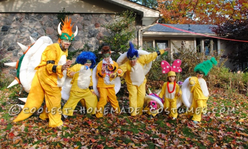 Koopa Family Costumes from Super Mario Bros
