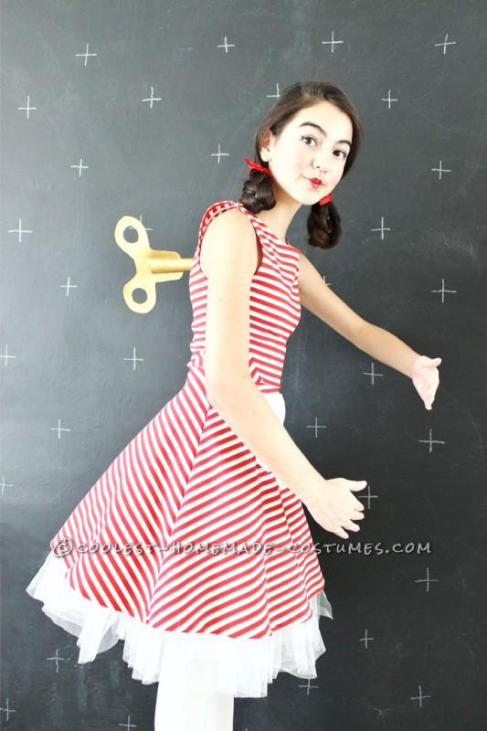 Last-Minute $0 DIY Wind-Up Doll Costume