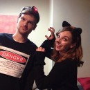 Last-Minute Cat and Laser Pointer Couple Costume