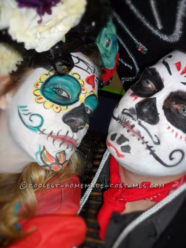 Last Minute Day of the Dead Bandido Couple Costumes