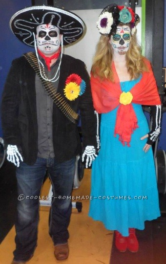 Last Minute Day of the Dead Bandido Couple Costumes - 1