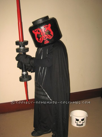 Coolest LEGO Darth Maul Homemade Minifigure Costume