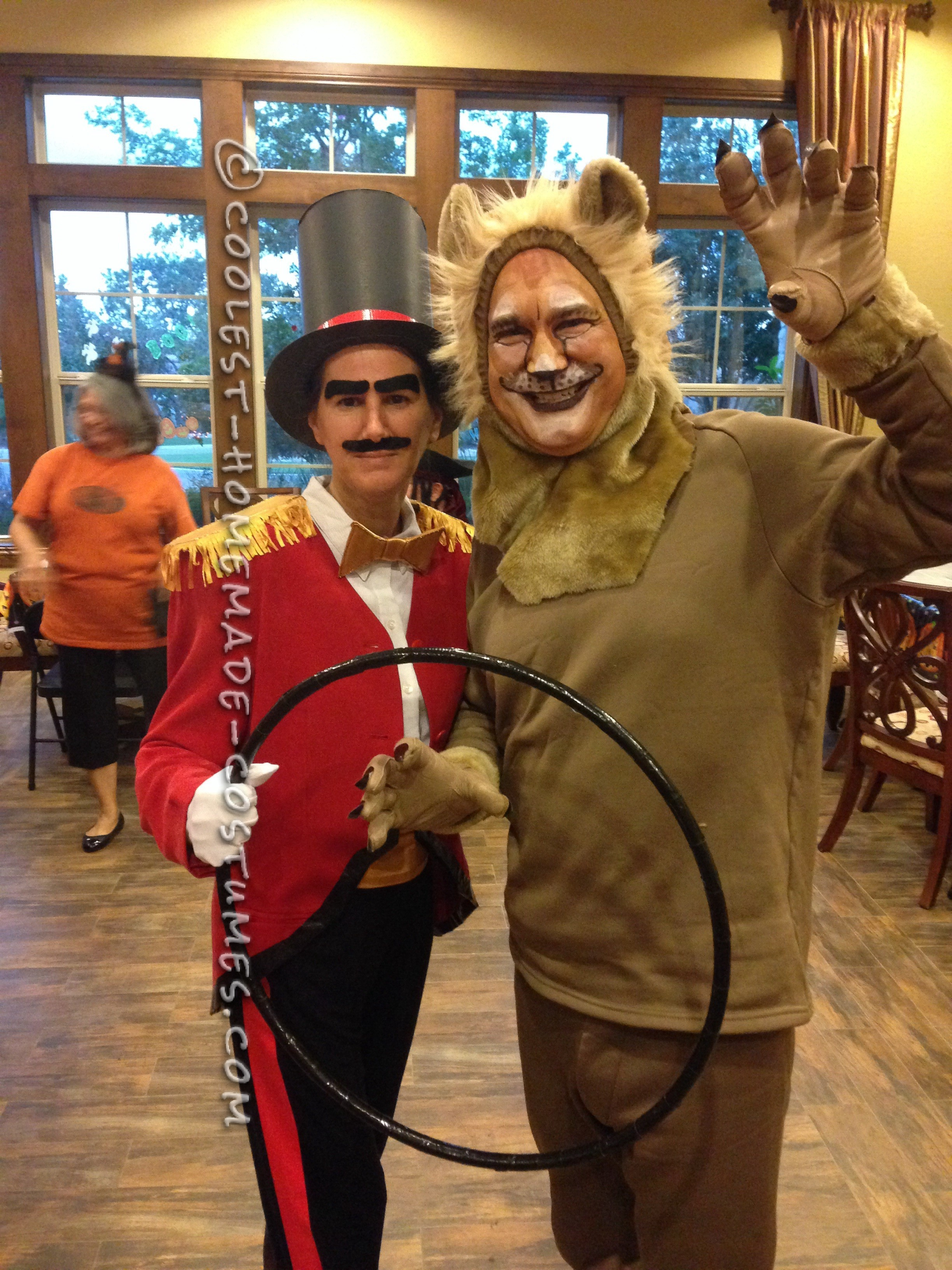 Cool Lion Tamer and Lion Couple Costume