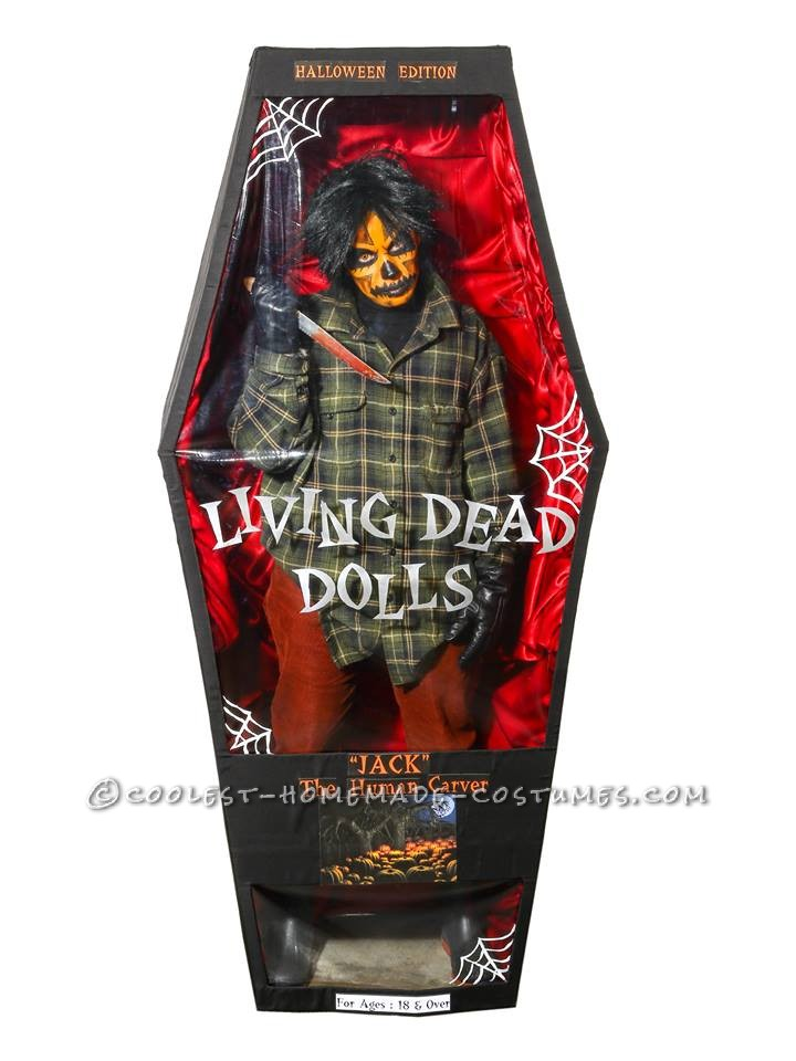 Scary Living Dead Doll Costume - Jack the Human Carver