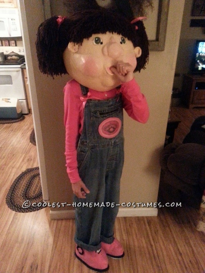 Paper Mache Cabbage Patch Doll Costume