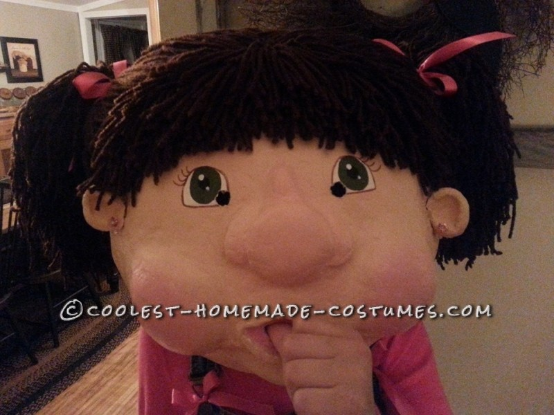 Paper Mache Cabbage Patch Doll Costume