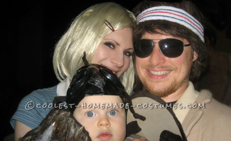Cool Family Costume Idea: Margot and Richie Tenenbaum with Mordecai the Hawk