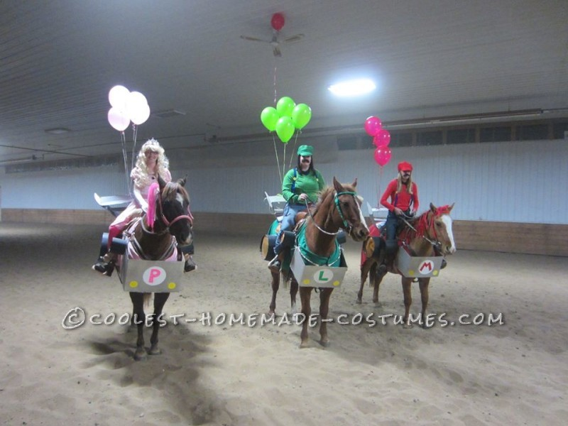 Mario Kart and Horses in Costume