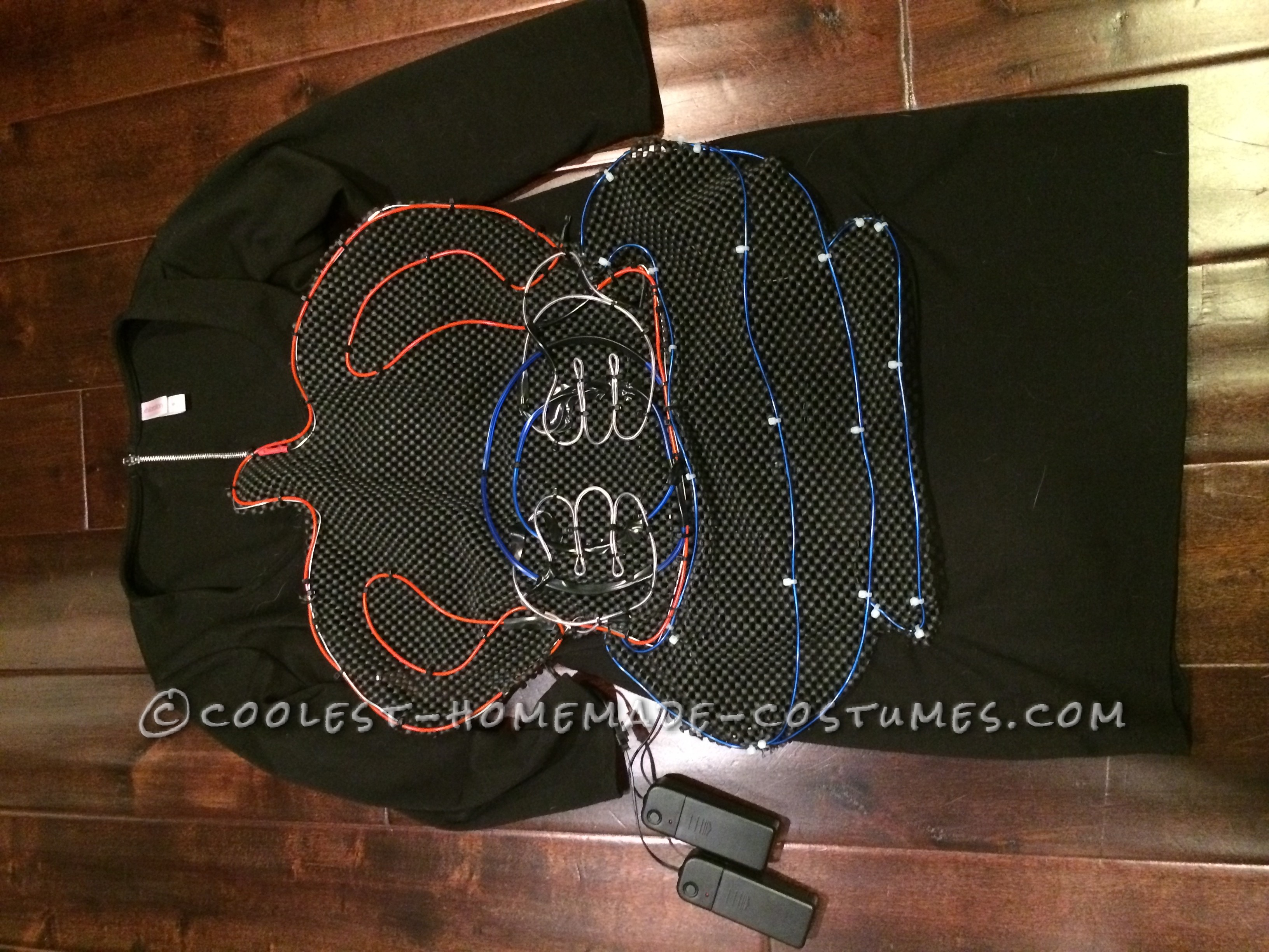 Glowing Marvin the Martian EL Wire Costume