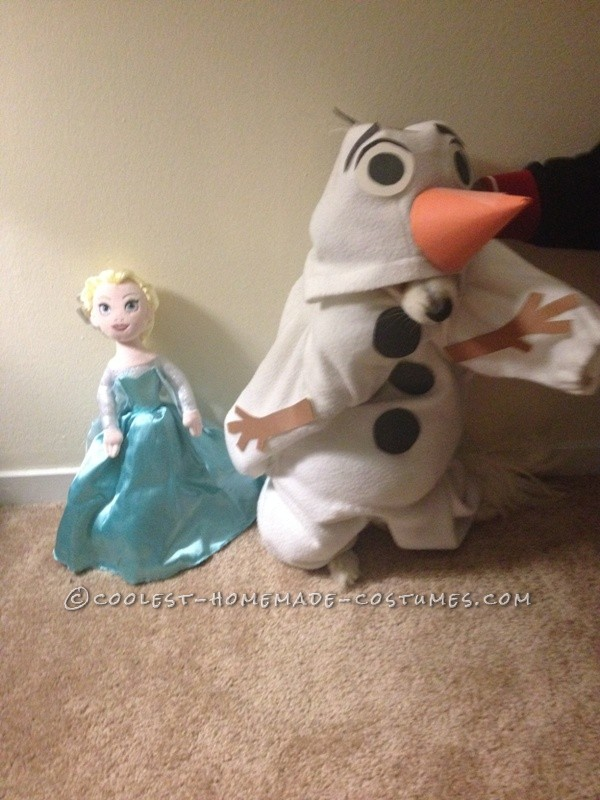 Funny Dog Costume: Mochi  as Olaf from Frozen - 2