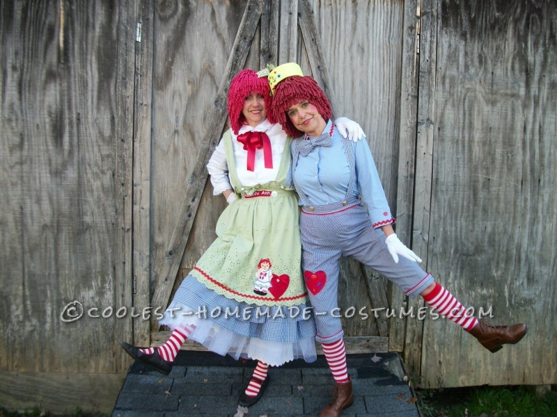 Mother and Daughter Raggedy Ann and Andy Costumes