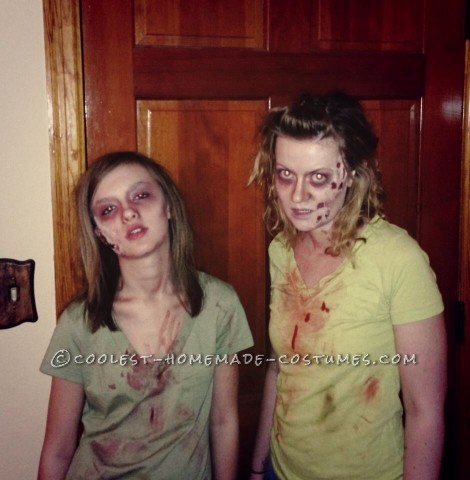 Mother and Daughter Zombie Couple Costume