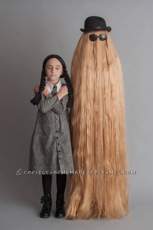 Mother/Daughter Have Fun as Wednesday Addams and Cousin Itt!