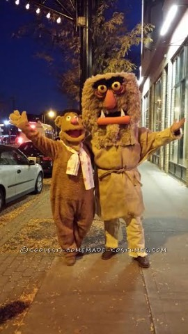 Muppet Mayhem Fozzie Bear and Sweetums Costumes