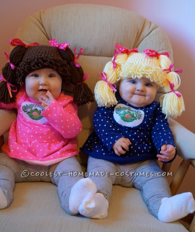 Easy and Comfy Costume for Babies: Cabbage Patch Twins