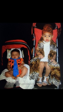 Wilma and Fred Flintstone Toddler Costumes