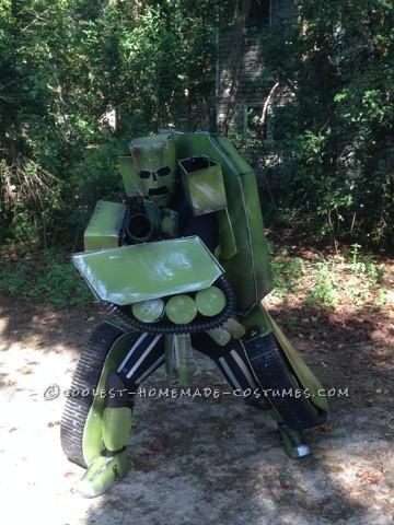 Made Up Transforming Transformer Costume: Autobot FURY