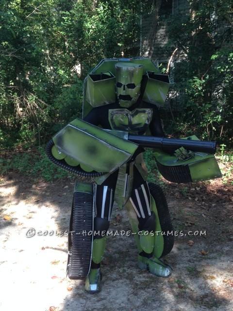 Made Up Transforming Transformer Costume: Autobot FURY - 5